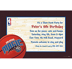 Orlando Magic Custom Invitation