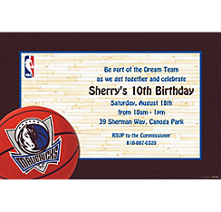 Dallas Mavericks Custom Invitation