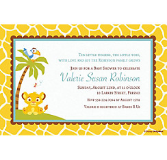 Lion King Baby Shower Custom Invitation