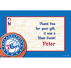 Philadelphia 76ers Custom Thank You Note