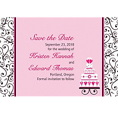 Custom Sweet Wedding Invitations