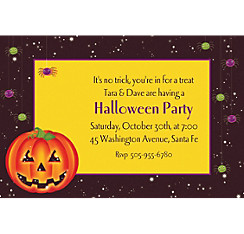 Perfect Pumpkin Halloween Custom Invitation