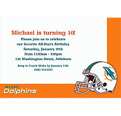 Miami Dolphins Custom Invitation