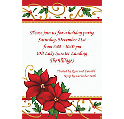 Winter Botanical Custom Christmas Invitation