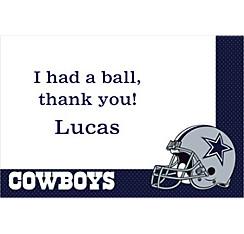 Dallas Cowboys Custom Thank You Note