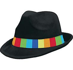 Rainbow Suede Fedora
