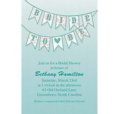 Bride to Be Flags Custom Bridal Shower Invitation
