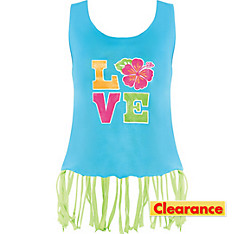 Adult Hibiscus Love Tank Top
