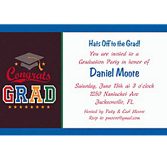 Custom Made The Grade Graduation Invitations