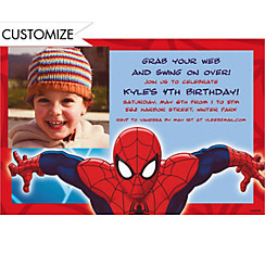 Ultimate Spider-Man Custom Photo Invitation