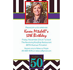 50th Celebration Custom Photo Invitation