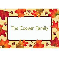 Autumn Day Custom Thank You Note