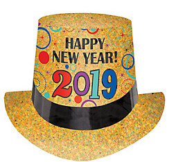 Colorful 2017 New Year's Top Hat