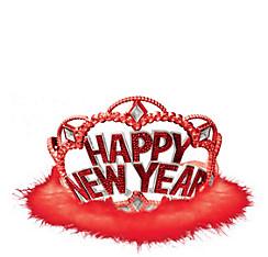 Red Marabou New Year's Tiara
