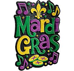 Glitter Mardi Gras Sign