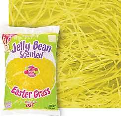 Scented Yellow Plastic Easter Grass