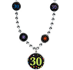 30th Birthday Pendant Bead Necklace