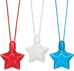 Patriotic Star Bubble Necklaces 3ct