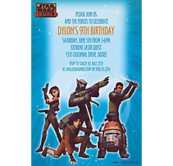 Star Wars Rebels Custom Invitation