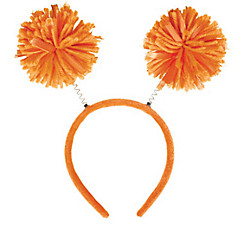 Orange Pom-Pom Head Bopper