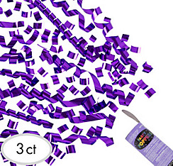 Purple Confetti Party Poppers 3ct