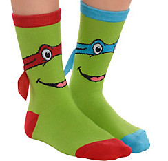 Child Leonardo & Raphael Crew Socks - Teenage Mutant Ninja Turtles