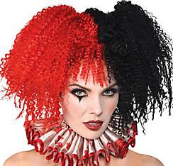 Jesterina Red & Black Wig