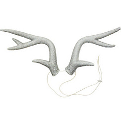 Silver Glitter Antlers