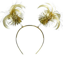 Gold Ponytail Head Bopper