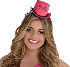 Pink Bride Top Hat - Sassy Bride