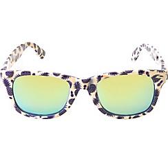 Purple Pineapple Mirrored Sunglasses