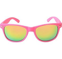 Bright Pink Mirrored Sunglasses