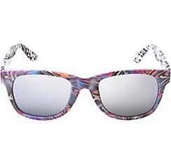 Colorful Zebra Mirrored Sunglasses