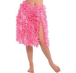Pink Flower Lei Hula Skirt
