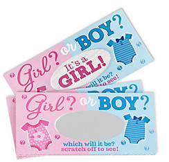 Girl Scratch-Off Cards 12ct - Girl or Boy Gender Reveal