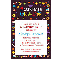 Custom Emoji Graduation Invitation