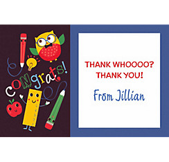 Custom Schoolhouse Chalkboard Graduation Thank You Note