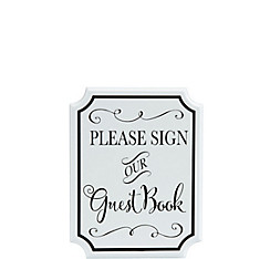 White Wedding Guest Book Sign