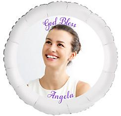 Custom Girl Confirmation Photo Balloon