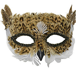 Brown Owl Feather Mask