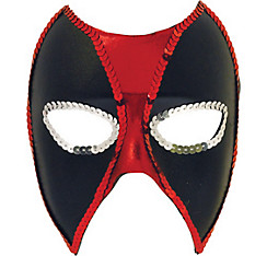 Sequin Trim Deadpool Mask