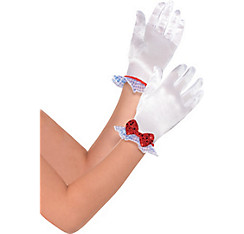 Child Dorothy Satin Gloves - Wizard of Oz