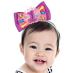 1st Birthday Bow Headband