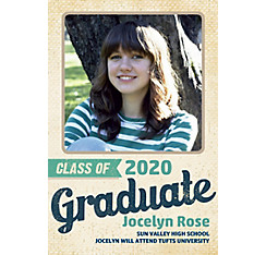 Custom Retro Graduation Photo Announcement