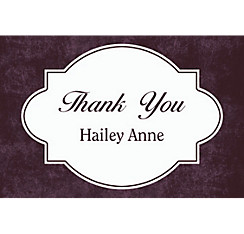 Custom Scroll Chalkboard Thank You Note