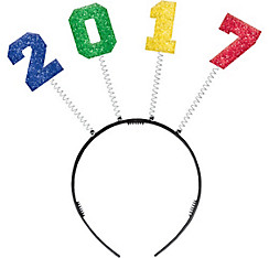 Glitter Colorful 2017 New Year's Head Bopper