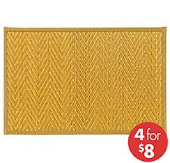Gold Chevron Bamboo Placemat