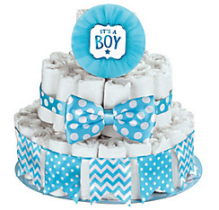 Blue It's a Boy Baby Shower Diaper Cake Decorating Kit