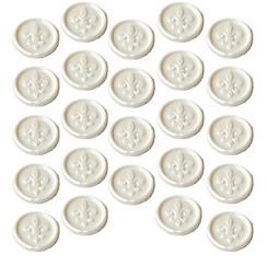 White Fleur-de-Lis Wax Envelope Seals 24ct