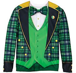 Green Plaid Jacket Long-Sleeve Shirt